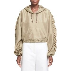 3.1 Phillip lim | Ruffle trimmed Cropped Hoodie s8